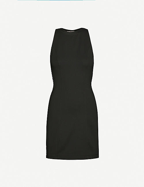 CALVIN KLEIN Logo-tape stretch-jersey mini dress