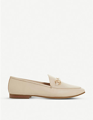 DUNE: Guiltt snaffle trim leather loafers