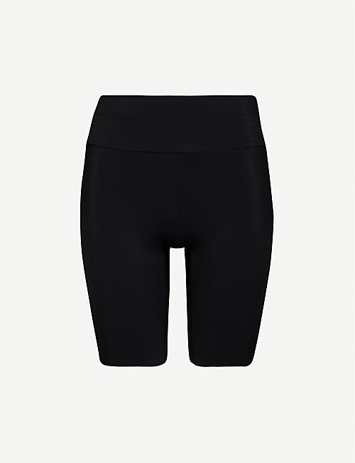 VAARA: Millie high-rise stretch-jersey shorts
