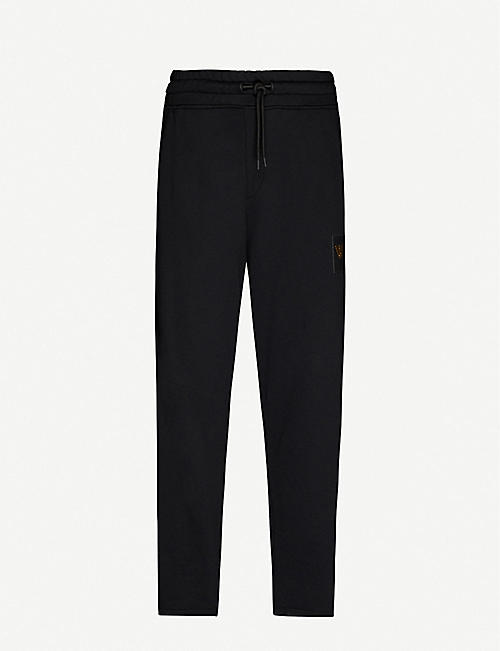 EMPORIO ARMANI: Logo-print cotton-jersey jogging bottoms