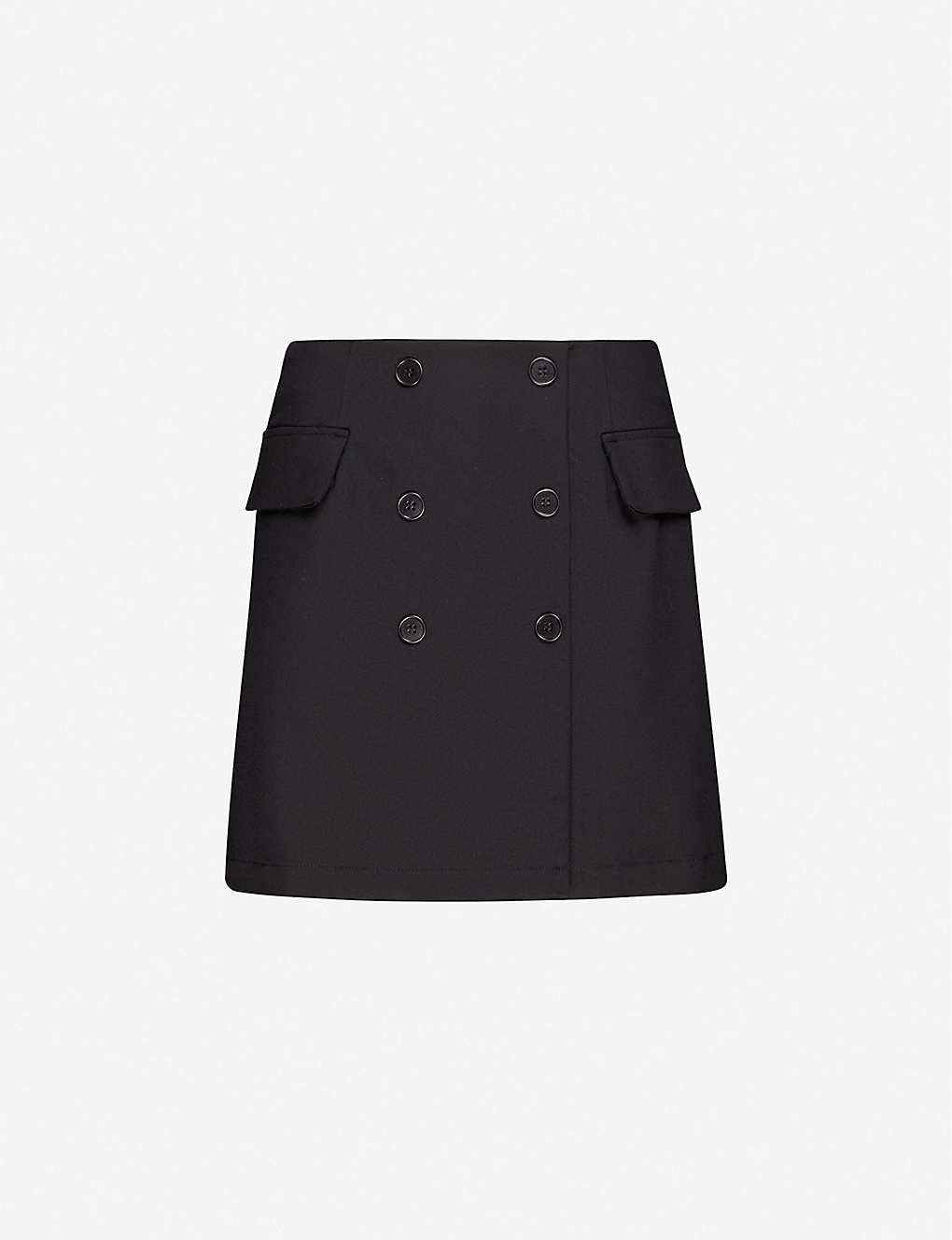REFORMATION: Easton button appliqu? twill mini skirt