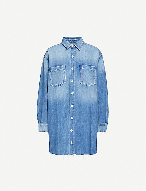 REFORMATION: Edie organic-denim mini dress