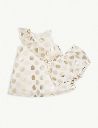 HUCKLEBONES: Polka dot ruffle tulle dress 6-36 months
