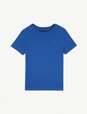 TOMMY HILFIGER Essential original logo cotton T-shirt 4-16 years