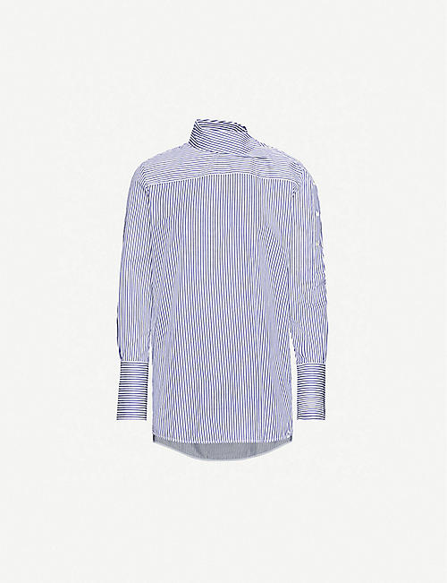 VICTORIA VICTORIA BECKHAM Striped cotton-poplin shirt