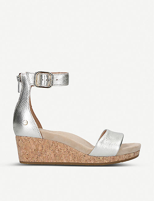 UGG Zoe leather wedge sandals