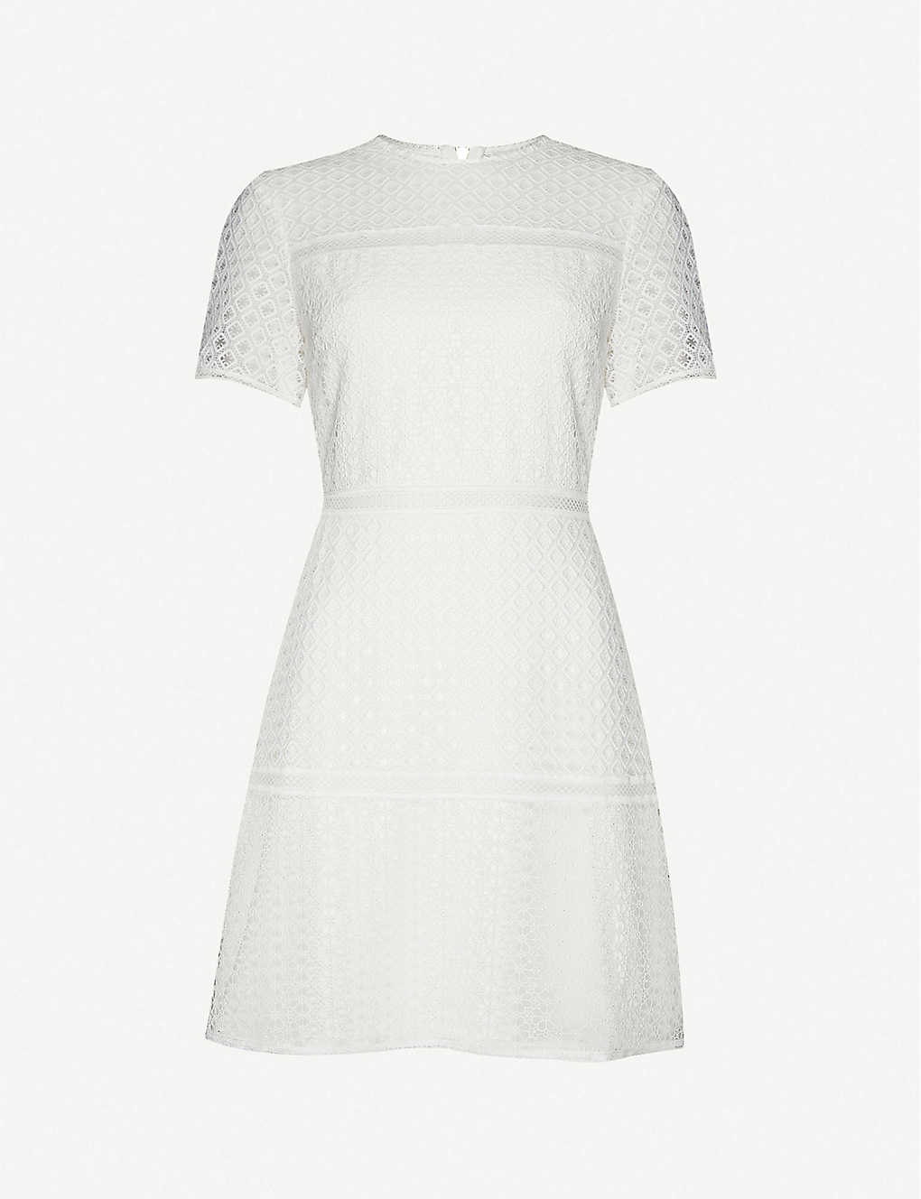 TED BAKER: A-line lace mini dress