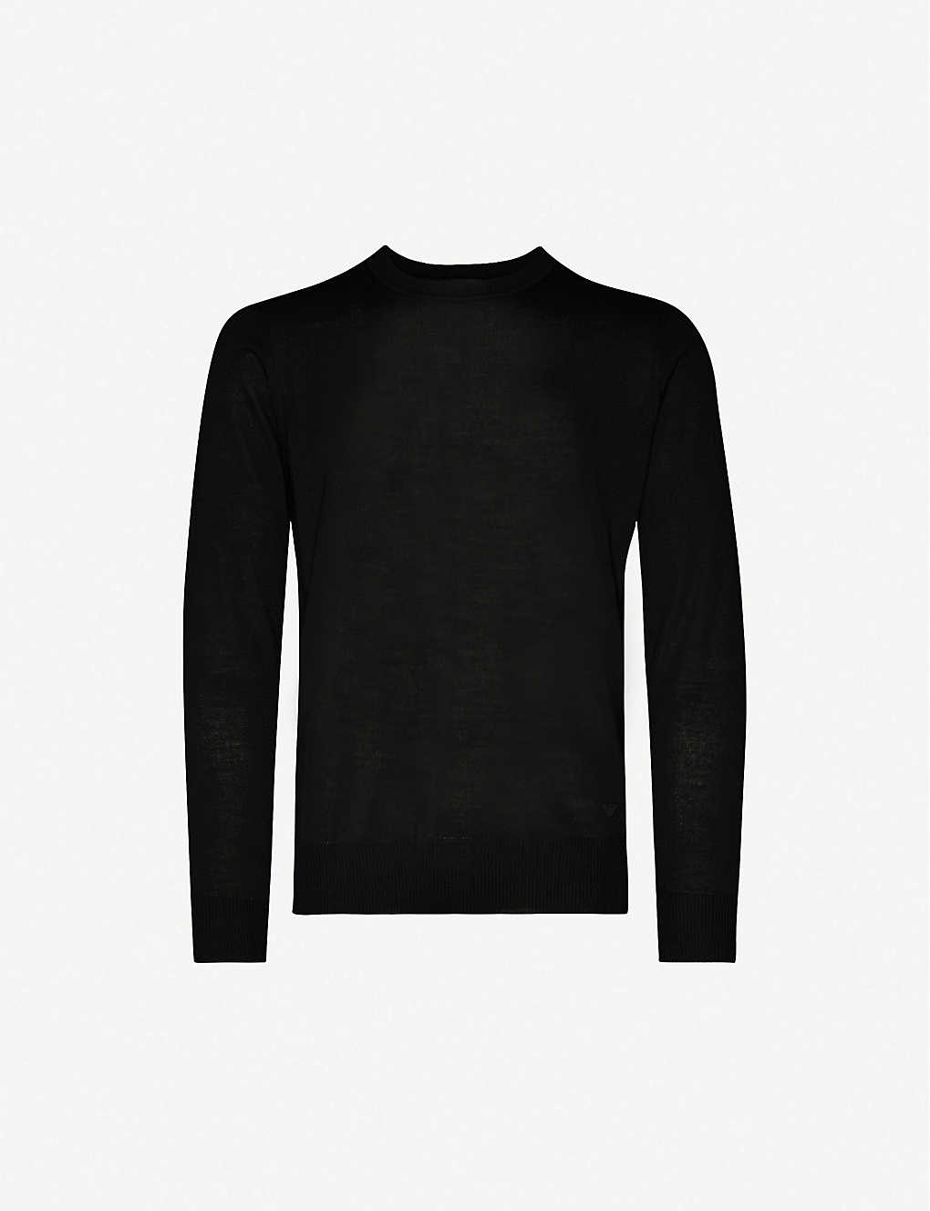 EMPORIO ARMANI: Slim-fit virgin wool jumper
