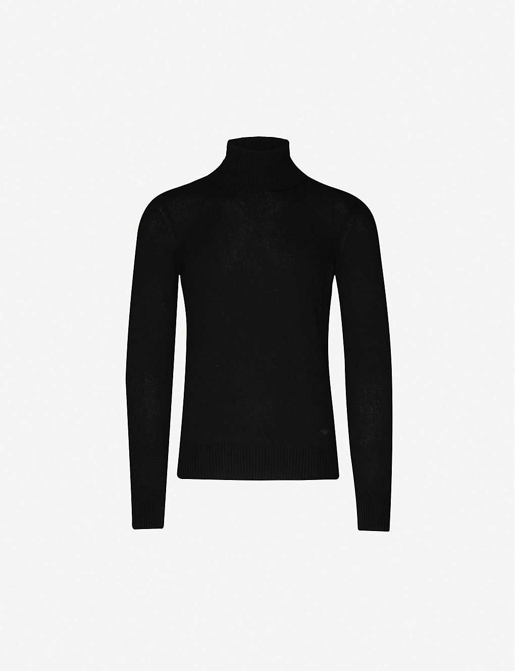 EMPORIO ARMANI: Slim-fit cashmere turtleneck jumper