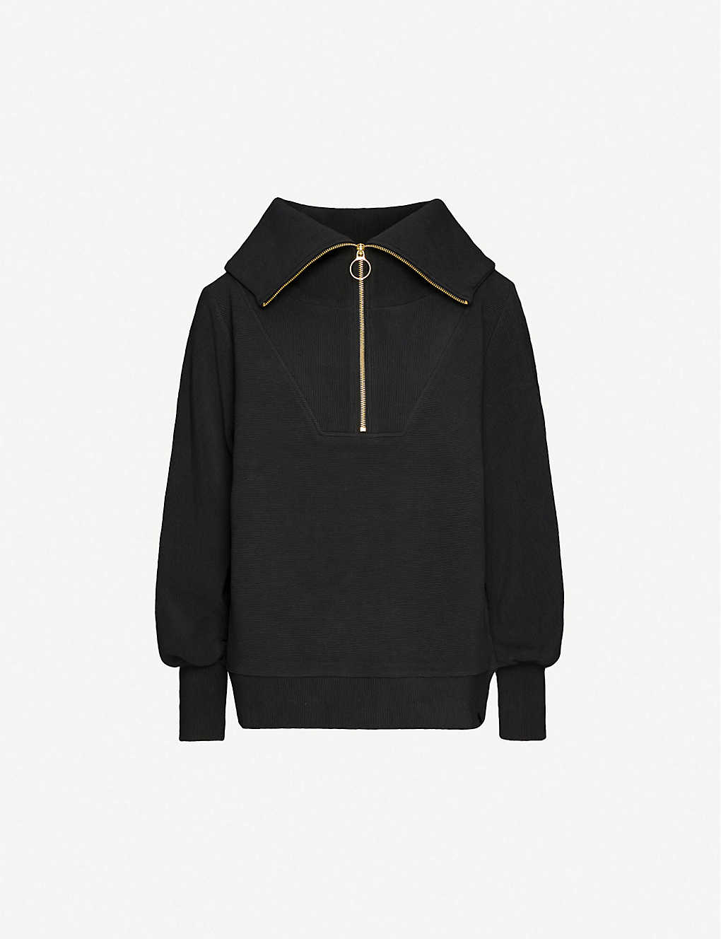 VARLEY: Vine half-zip cotton-blend sweatshirt