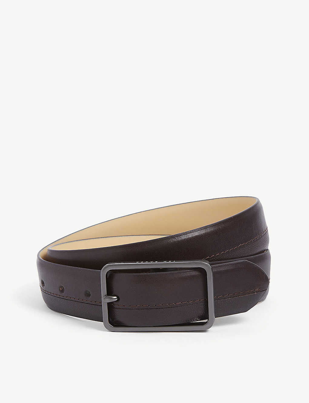 TED BAKER: Mattel suede and leather belt