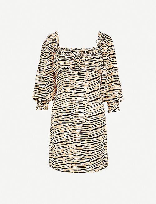 FAITHFULL THE BRAND: Ira animal-print woven mini dress
