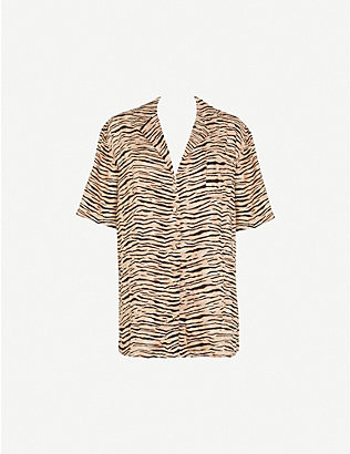 FAITHFULL THE BRAND: Charlita animal-print linen shirt dress