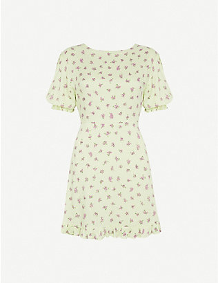 FAITHFULL THE BRAND: Florence floral-print crepe mini dress