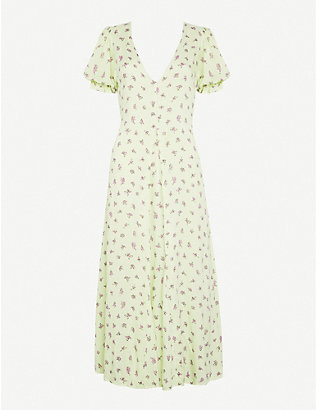 FAITHFULL THE BRAND: Maggie floral-print crepe midi dress