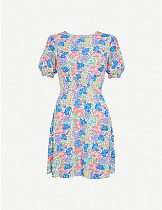 FAITHFULL THE BRAND: Sidonie floral-print crepe mini dress