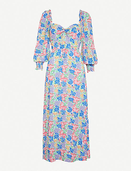 FAITHFULL THE BRAND: Mathilde floral-print rayon midi dress