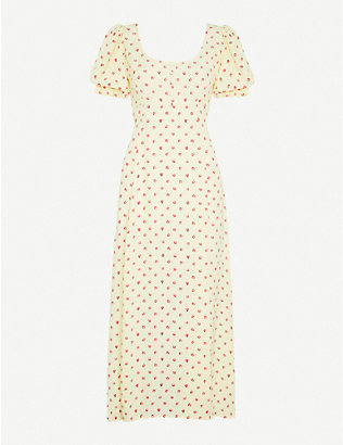 FAITHFULL THE BRAND: Linnie floral-print crepe midi dress