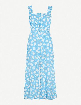 FAITHFULL THE BRAND: Dolores floral-print crepe jumpsuit