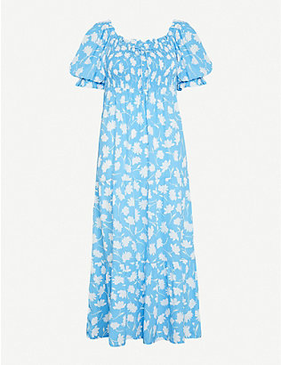 FAITHFULL THE BRAND: Olinda floral-print crepe midi dress