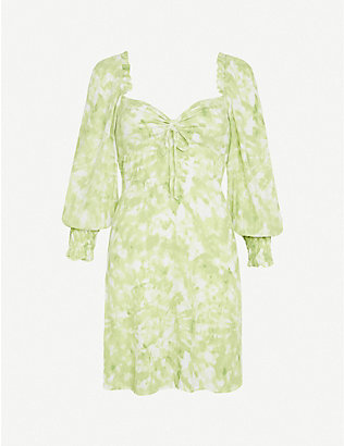 FAITHFULL THE BRAND: Arianne tie-dye mini crepe dress