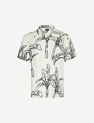 STUSSY: Graphic-print woven shirt
