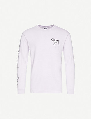 STUSSY: One World One Love graphic-print cotton-jersey T-shirt