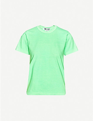 COMME COMME DES GARCONS: Round-neck cotton-jersey T-shirt