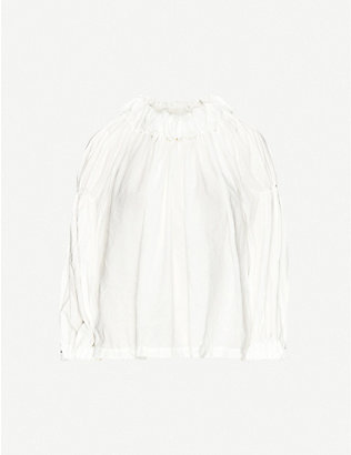 COMME COMME DES GARCONS: Ruffled relaxed-fit woven top