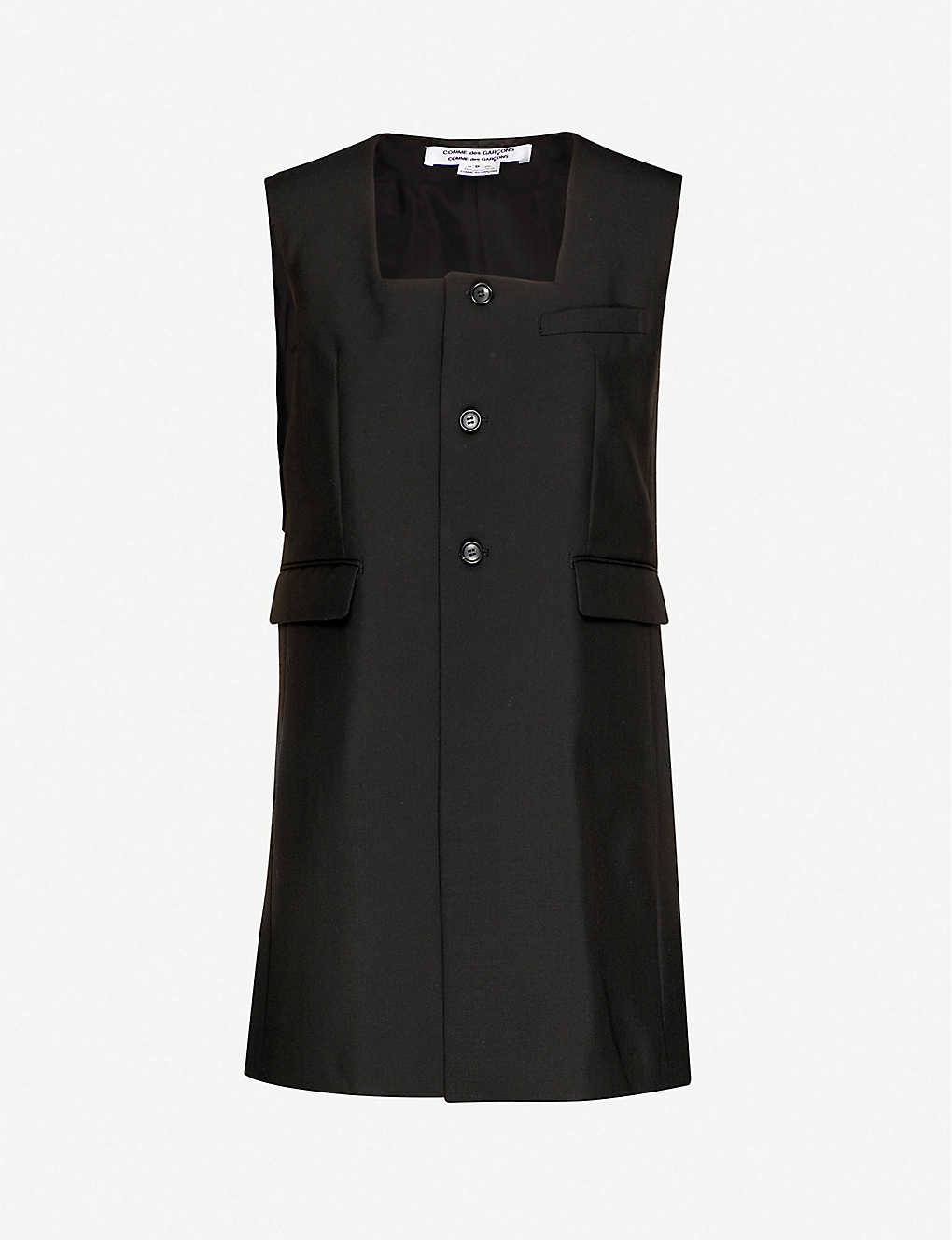 COMME COMME DES GARCONS: Pinafore wool and mohair-blend mini dress