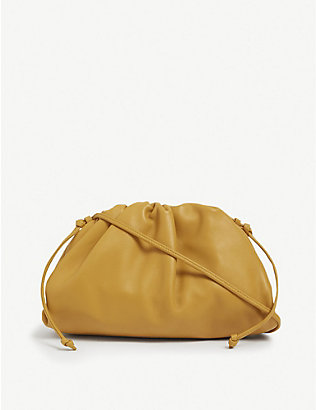 BOTTEGA VENETA: The Pouch leather clutch