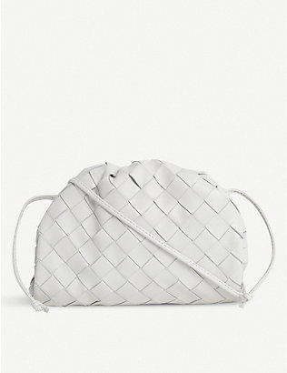 BOTTEGA VENETA: The Pouch mini intrecciato leather clutch bag