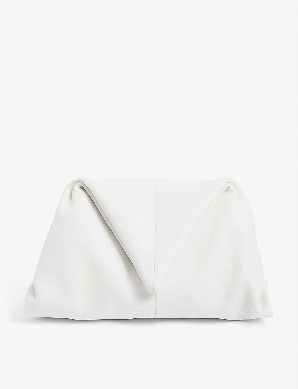 BOTTEGA VENETA: Envelope leather wristlet clutch