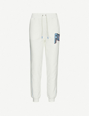 ARMANI EXCHANGE Colourpop logo-print cotton-blend jogging bottoms