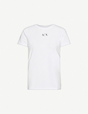 ARMANI EXCHANGE Small logo cotton-jersey T-shirt