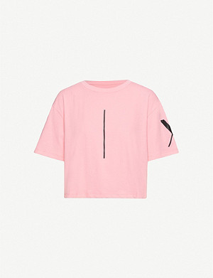 ARMANI EXCHANGE Boxy cropped cotton-jersey T-shirt