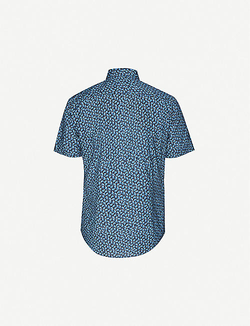 BOSS Leisure regular-fit linen and cotton-blend shirt