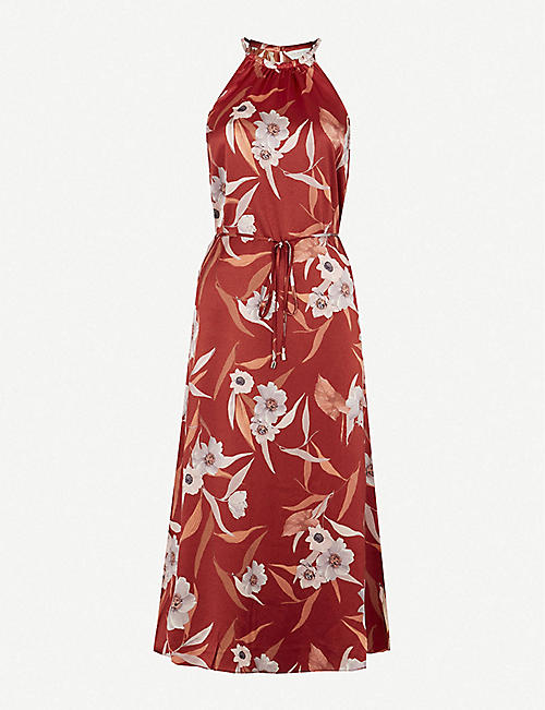 TED BAKER: Floral-print woven maxi dress