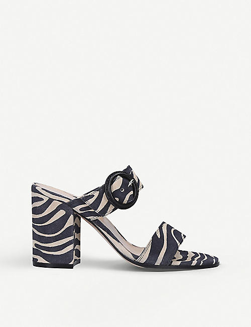 GIANVITO ROSSI: Betty 85 zebra-print suede mules