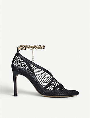 BOTTEGA VENETA: Chain-detail leather and mesh courts