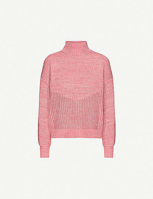 WHISTLES: Moss textured-knit cotton and wool-blend jumper
