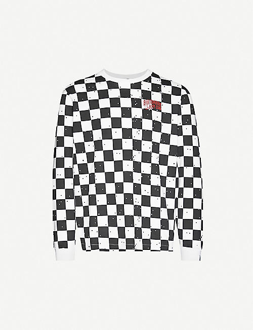 BILLIONAIRE BOYS CLUB Space Check brand-print cotton-jersey T-shirt