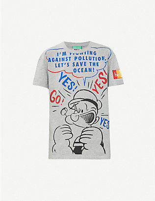 BENETTON: Benetton x Popeye cotton-jersey T-shirt