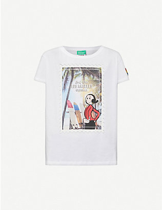 BENETTON: Benetton x Popeye printed cotton-jersey T-shirt