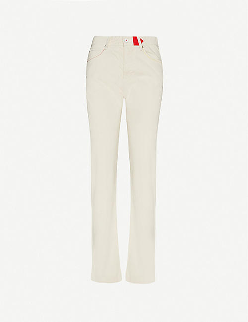 BENETTON: Straight-fit cotton trousers