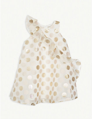 HUCKLEBONES: Polka dot ruffle tulle dress 4-12 years