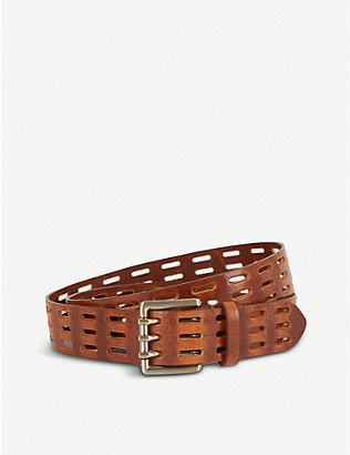 REISS: Taylor cut-out leather belt