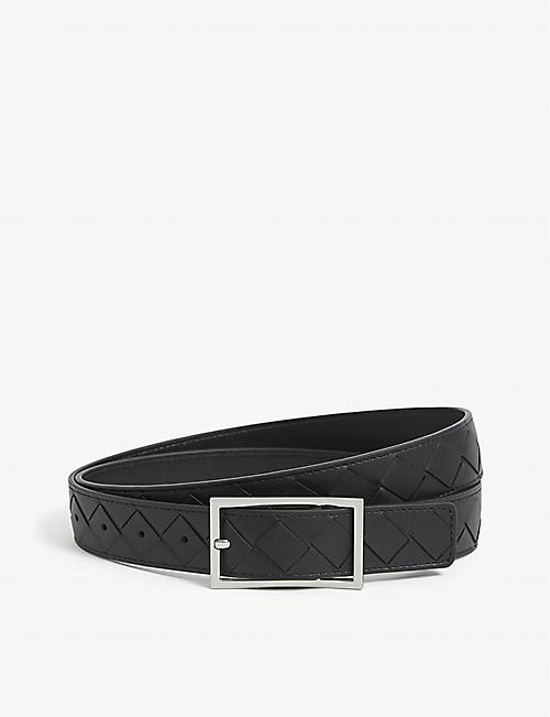 BOTTEGA VENETA: Intrecciato woven leather belt
