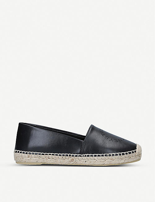 STELLA MCCARTNEY: Selene logo-detail faux-leather espadrilles