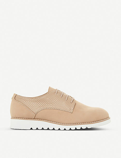 DUNE: Flinch platform leather derby shoes